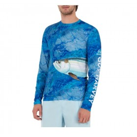 Camiseta Guy Harvey UPF 50 Perfomance Realtree Camo Tarpon