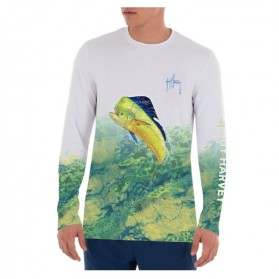 Camiseta Guy Harvey UPF 50 Perfomance Camo Leap Realtree