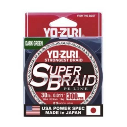 Línea Trenzada Yo-zuri Superbraid  Verde