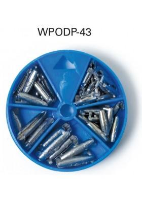 Surtido de Plomada de presión Eagle Claw Pinch-on Sinker WPODP-43 - PAQx43