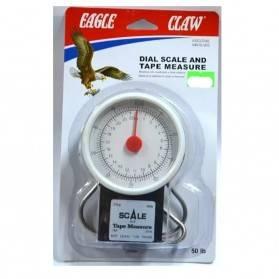 Balanza Eagle Claw 50lb Pesa Pesca con cuadrante y cinta métrica