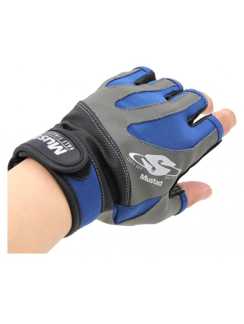 Guantes Mustad Half-finger Casting Glove