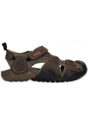 Crocs Swiftwater Leather Fisherman Espresso/Walnut