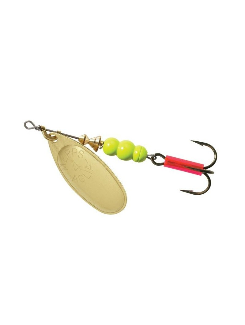 Fluorescent Chartreuse Body - Gold Blade