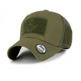 Gorra Malla Ililily Military Velcro Patch Cotton