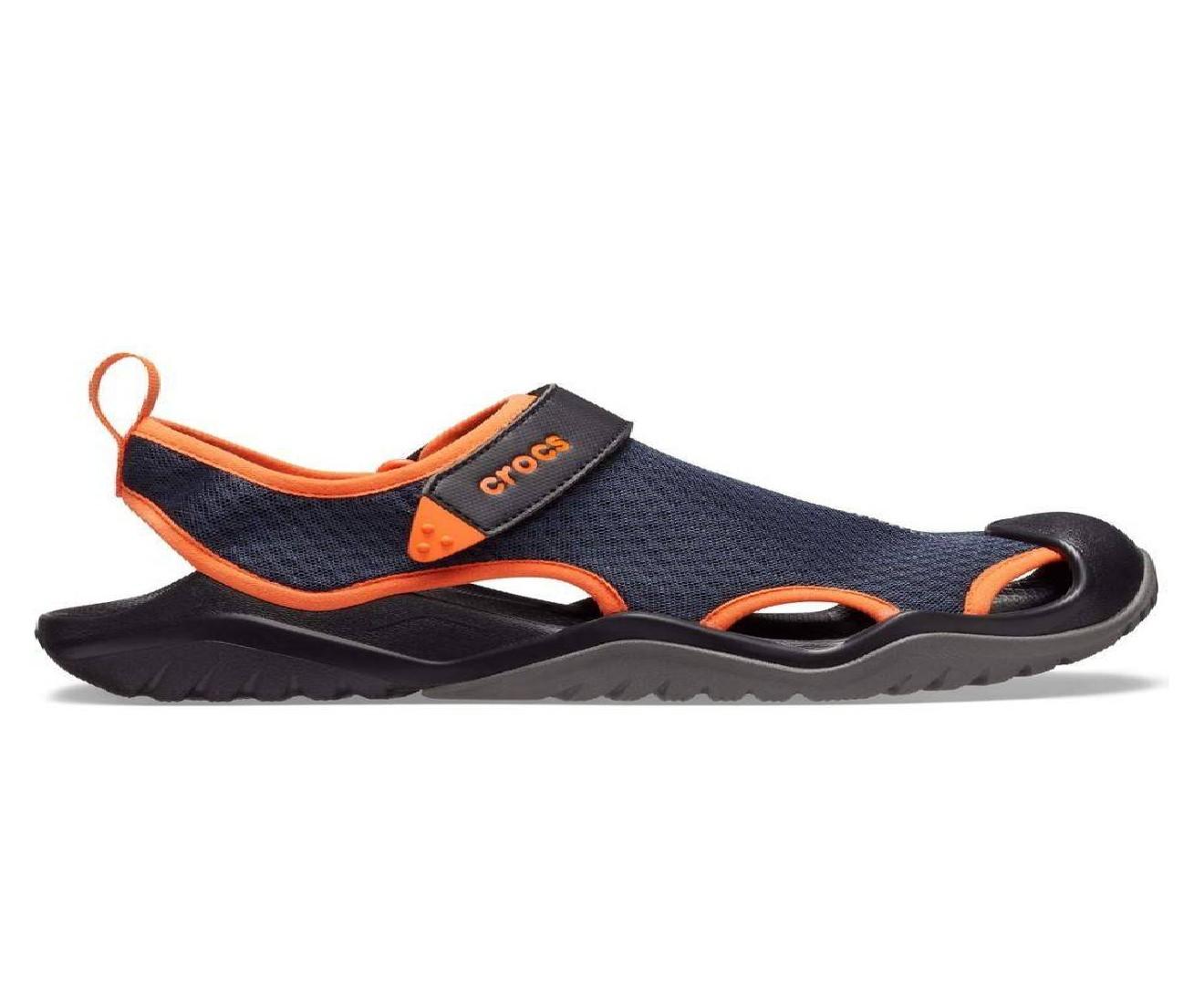 Swiftwater Mesh Deck Sandal Navy/Tangerine